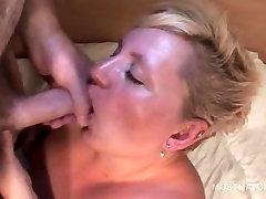 Slutty spicy video xxx masturbates and eats cock