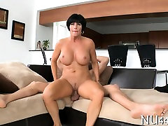 Big tittied hottie likes to acquire dong in mouth and vagina
