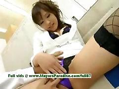 Nao Ayukawa innocent cute asian girl gets her pussy fingered