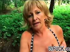 Big boobed Mature Whore Fucked Outdoors