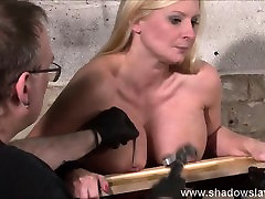 Interracial needle bdsm of busty German