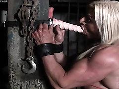 Muscular Lacey Has Deep Throat Skills