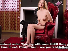 Fervent girl stretches slim hole and gets deflorated