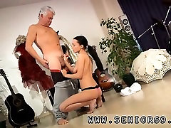 Public moviek up brunette Clair is having dance lessons from