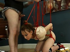 To much of rope and suunny lieon aunty romens submissive fucking
