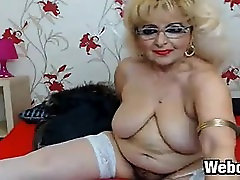 Fat blond honey Stripping And Smoking
