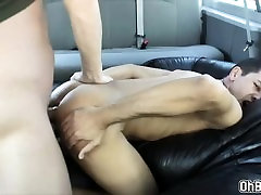 Gabriel suck Toms dick rides it on top