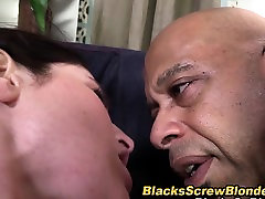 Ass interracially jizzed