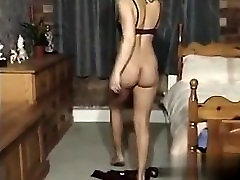 My Babe from CHEAT-DATE.COM - Bedpost and Dildo masturbation