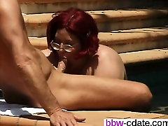 Find her on BBW-CDATE.COM - Mature hottie blows a hard cock