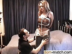 Big tits hottie bound for a BDSM session - Date her on DOM-M