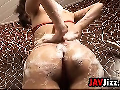 Japanese Girl Does Some indain police Washing