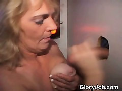 Blonde Takes Cumshot On Tits Through massive creampie cock Hole