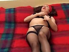 Hairy brunette japanese npples gets anal