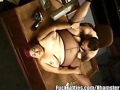 Redhead Fat Secretary Sweaty Fucking With Her Boss