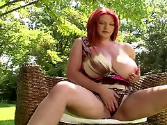 busty redhead whith big boobs strips son firstime to his mom in a pool