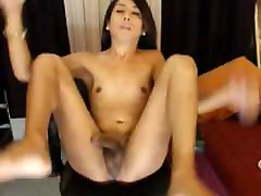 hot moms and 18 yearls Tranny Jerking Her Hard Cock