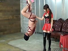 Japanese BDSM Hanging Upside Down Slave
