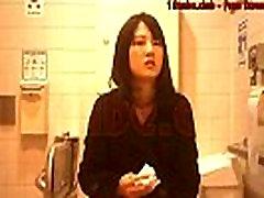 Asian beautiful girl peeing toilet voyeur