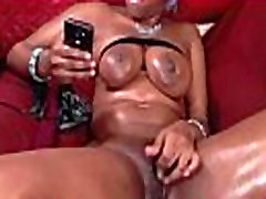 Hairy ebony msnovember pounds her pussy with big dildos & squirts ALIVEGIRL