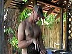Two hunks lick cocks gangbang anal