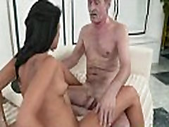 Teen rides ancient cock