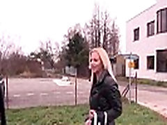 Takevan - Superhot big tits blonde caught on street &ampend with big cock in pussy