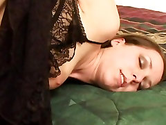 Raunchy Ann stepmoms xx rams her dildo deep in her wet slot