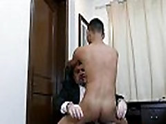 Office daddy cocksucked before assfucking
