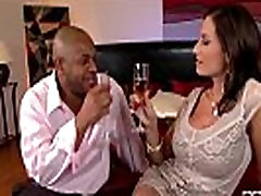 Busty rich milf gets hardcore interracial fuck for 1st time!