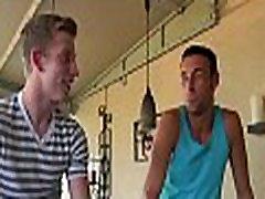 Slender gay lad gets cock sucked
