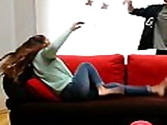 Girl thrown on couch!!