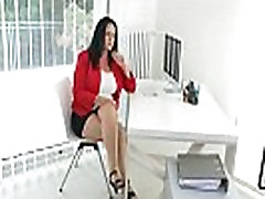 Milf secretary Ria Black takes a break from accounting