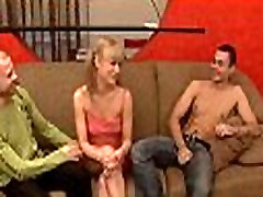 Interracial three-some with virgin