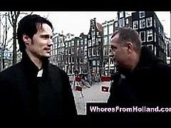 Amateur guy filmed fucking blonde Dutch hooker