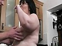 Bbw cock riding at the kitchen