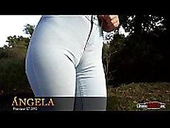Spanish eva blond german hd teen in skinny jeans cameltoe