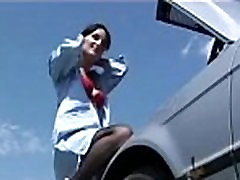 Brunette black stockings Anal sex outdoor - www.Arab-videosx.com