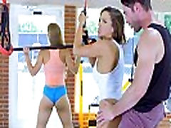 girls jim Tit Chicks Fuck Fitness Instructor in a Gym - Abigail Mac, Nicole Aniston