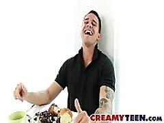 Fragile Vagina Gets Graceful Creampie