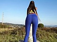 Young pretty girl showing tits job compilation sexy underwear pov in blue tights