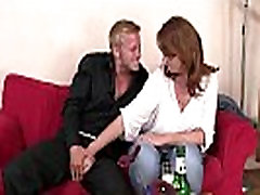 He picks up and fucks boozed old woman