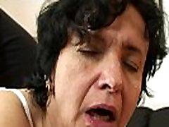 Very sosha south high hairy pussy granny swallows two cocks