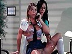 Sexy hot busty lesbid saada nikutud oma magusa pussies suur dildo 26
