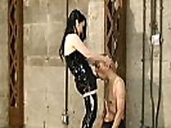 Japanese Femdom Towa hit the whip to the slave&039s penis
