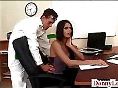 Donny Long gives cute super hot bang bros amy khalifah full tit secretary her first big cock