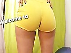 Amazing Bubble-Butt Teen Working-Out. Puffy Cameltoe