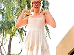 Sammy petite public blonde teen flashing tits pussy