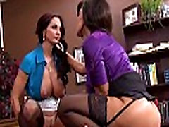 Office CFNM femdoms banging spying dude