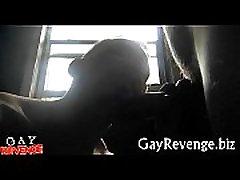 Horny gays enjoy a hot blow job